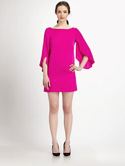 Milly - Stretch Silk Butterfly-Sleeved Dress
