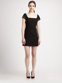 Milly - Milla Leather-Sleeved Cotton Dress