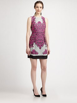 Milly - Betsy Silk Baroque-Print Dress