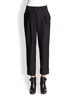 Milly - Brooke Pleated Cropped Pants