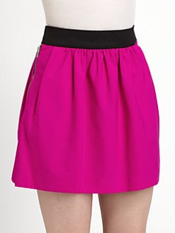 Milly - Erin Stretch Crepe Mini Skirt