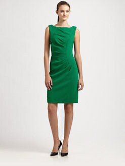 Milly - Pleated Sheath Dress