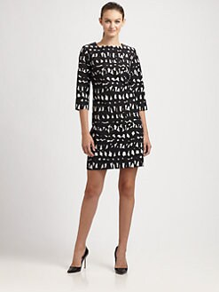 Milly - Julia Leather-Trim Dress