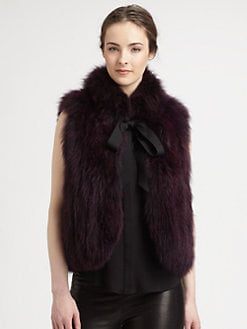 Milly - Madison Dyed Fox Fur Vest