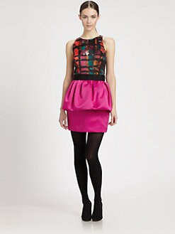 Milly - Combo Peplum Dress