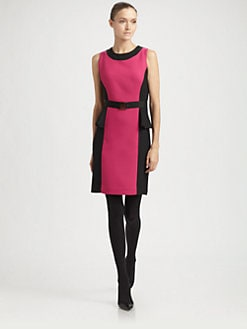 Milly - Olivia Belted Peplum Dress