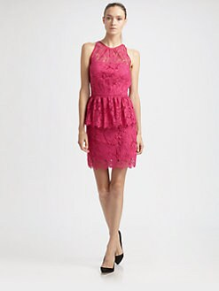 Milly - Liza Lace Peplum Dress
