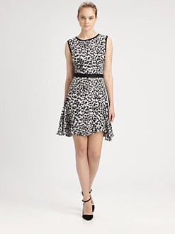 Milly - Cheetah-Print Silk Dress