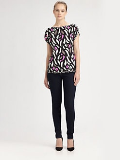 Milly - Stained Glass-Print Top