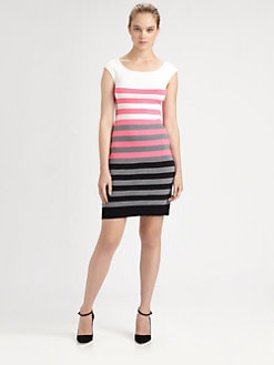 Milly - Multi-Stripe Knit Dress