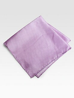 Saks Fifth Avenue Men's Collection - Silk Pocket Square/Pin Dots