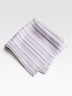 Saks Fifth Avenue Men's Collection - Silk Pocket Square/Stripes