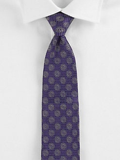 Saks Fifth Avenue Men's Collection - Marseille Medallion Silk Tie
