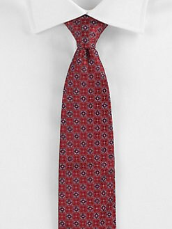 Saks Fifth Avenue Men's Collection - Normandy Neat Silk Tie