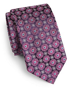 Saks Fifth Avenue Men's Collection - Hermitage Medallion Silk Tie