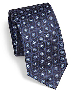 Saks Fifth Avenue Men's Collection - Ambassador Medallion Silk Tie