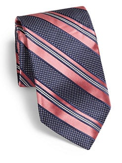Saks Fifth Avenue Men's Collection - Striped Silk Tie