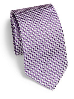 Saks Fifth Avenue Men's Collection - Meridian Check Silk Tie