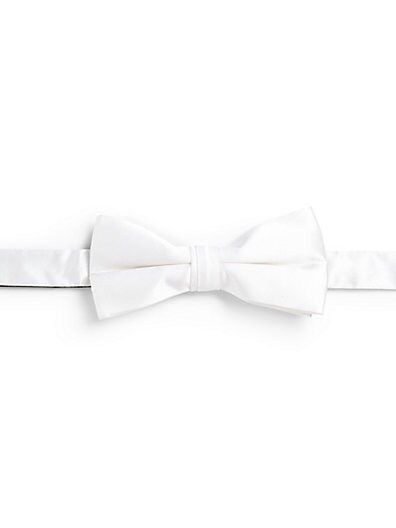 White Silk Bowtie $28.06 AT vintagedancer.com