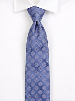 Saks Fifth Avenue Men's Collection - Cortina Medallion Silk Tie