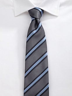Saks Fifth Avenue Men's Collection - Jerome Stripe Silk Tie