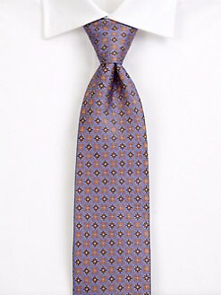 Saks Fifth Avenue Men's Collection - Arlberg Neat Silk Tie