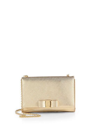 Miss Vara Bow Metallic Mini Shoulder Bag