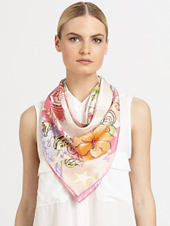 Salvatore Ferragamo - Beverly Hills Silk Foulard Scarf