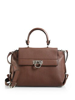 Salvatore Ferragamo - Mvit Sofia Leather Top Handle Bag