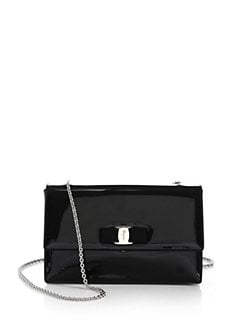 Salvatore Ferragamo - Vara Ginny Piuma Patent Leather Shoulder Bag