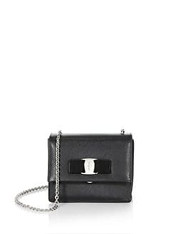 Salvatore Ferragamo - Mini Vara Ginny Leather Shoulder Bag