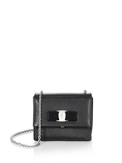 Mini Vara Ginny Leather Shoulder Bag