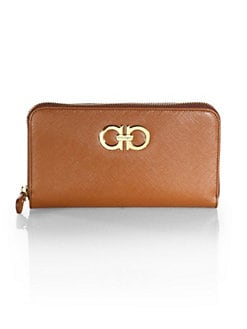 Salvatore Ferragamo - Gancini Icona Zip-Around Wallet