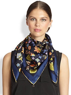 Salvatore Ferragamo - Paisley Animal-Print Silk Scarf