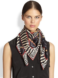 Salvatore Ferragamo - Iconic Animal-Print Silk Scarf