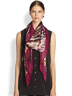 Salvatore Ferragamo - Graphic-Print Silk Scarf