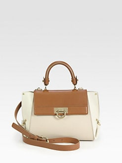 Salvatore Ferragamo - Vit Sioux Sofia Colorblock Top Handle Bag