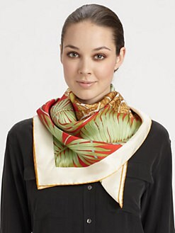 Salvatore Ferragamo - Rio Print Silk Scarf