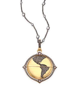 Mythology Diamond & 18K Yellow Gold Globe Amulet