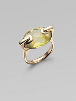 H2 at Hammerman - Lemon Quartz & 18K Yellow Gold Ring