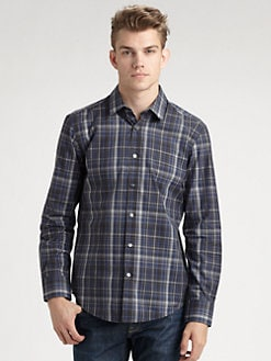BOSS Black - Ronny Slim-Fit Plaid Sportshirt