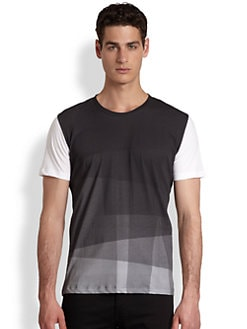 BOSS Black - Geometric Contrast Tee