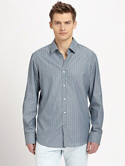BOSS Black - Lucas Striped Cotton Sportshirt