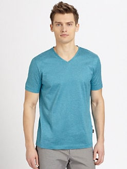 BOSS Black - Eraldo Heathered V-Neck T-Shirt