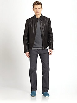 BOSS Black - Alexo Leather Bomber Jacket