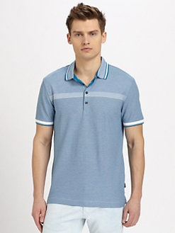BOSS Black - Varenna Pique Cotton Striped Polo
