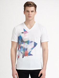 Hugo - Dind Abstract Pixel T-Shirt
