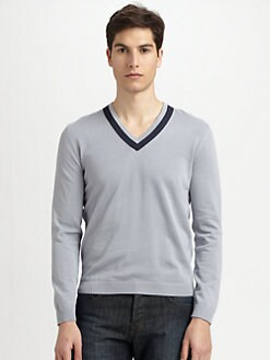 Hugo - Cotton V-Neck Sweater