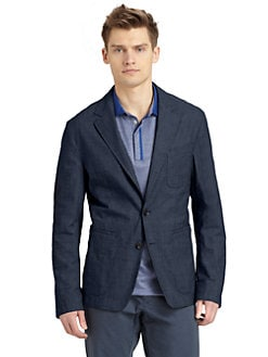 BOSS Black - Mical Over-Dyed Linen Jacket