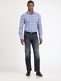 BOSS Black - Lucas Plaid Sportshirt